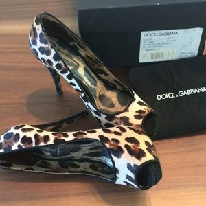 Dolce & Gabbana peep toe pumps
